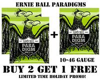 3 SETS ERNIE BALL PARADIGM 2021 REGULAR SLINKY ELECTRIC GUITAR STRINGS (10-46)