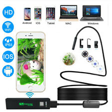 HD Waterproof WiFi Endoscope Borescope Inspection 8LED Camera For Phone Android