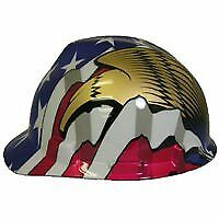 MSA Safety 10052947 Freedom V-Gard Protective Cap - American Flag w/ 2 Eagles