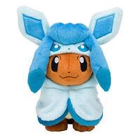 Pokemon Eevee Poncho Glaceon Glacia 7 inch Plush Doll Soft Figure Toy