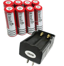 8 X 18650 3,7V 3000mAh Lithium-Ionen Akku Wiederaufladbare Batterie+ Ladegerät