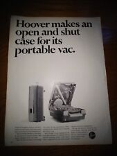 Vintage 1967 Hoover Portable Canister Vacuum Cleaner Advertisement Ad