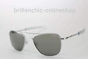 "RANDOLPH Sonnenbrille AVIATOR - bright chrome / gray ""NEU"""