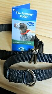 """Pet Safe,BLACK DOG COLLAR Brand New! Martingale SizeSMALL 8-12"""" Strong"""