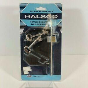 Vintage HALSCO Mortise Bit Key (Skeleton) Lock
