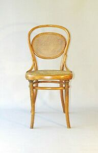Chaise THONET N°11 vers 1890 cannage neuf, modèle  luxueux