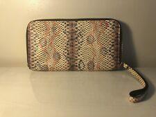 Longchamp Snakeskin Embossed Leather Wristlet