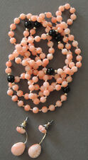And Earrings Set Vintage Natural Angelskin Coral