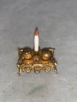 Vintage Miniature Dollhouse ELLEN KRUCKER BLAUER Miniature Mart GOLD Desk Set
