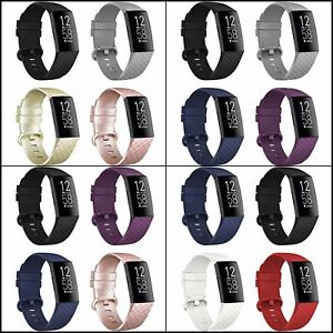 4 Pack Bands For Fitbit Charge 4 Charge 3  Charge 3 SE Waterproof Quick Release