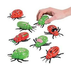 4 x PULL BACK INSECTS BUGS PARTY FAVOURS PLASTIC PULLBACK INSECT FUN TOY GIFT
