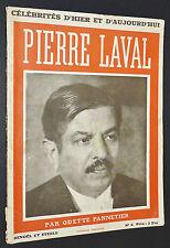 BIOGRAPHIE POLITIQUE FRANCE 1936 PIERRE LAVAL PRESIDENT DU CONSEIL DES MINISTRES