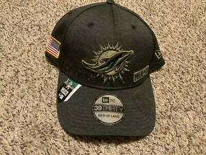 Miami Dolphins New Era 2020 NFL Salute to Service Sideline 39thirty Men's M/L