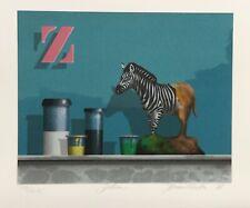 "Carter ""Toy Zebra"" original serigraph art"