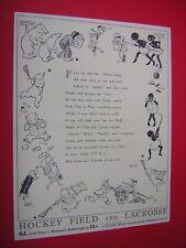 WOMEN'S SPORT. HOCKEY & LACROSSE. 1930's ADVERTISING FLYER. ILLUS BY MOLLY BRETT