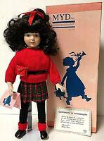 "Vintage Marian Yu BOBBIE 15"" Limited Edition Bisque Porcelain School Girl Doll"
