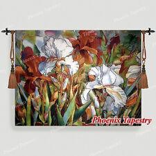 "Beautiful Lily Flower Fine Art Tapestry Wall Hanging, Cotton 100%,  54""x42"", UK"