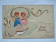 BUON NATALE bambini angelo angel cartolina old postcard AK Christmas