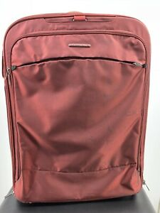 """Briggs And Riley Checked Luggage Expandable 2-wheeled Iridescent Red 29""""x20""""x11"""""""