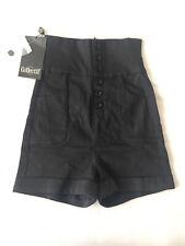 Collectif High Waist Nomi Shorts schwarz Retro Rockabilly XS 8 Top Vintage NEU