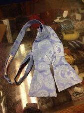 NEW Brioni Bow Tie Blue Paisley 100% Silk Made In Italy Adjustable NWOT