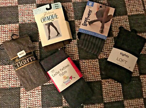 NIP 5 WMNS TIGHTS BROWNS GRAY TEXTURE Opaque  Control Top. MISC MFRS. VARY SIZES