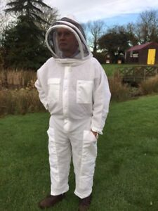 Adult Beekeeping Vented, All in one suit, Protective clothing, Fencing hat style