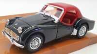 Saico 1/24 Scale Model Car DP6001-2W - 1960 Triumph TR3A - Black