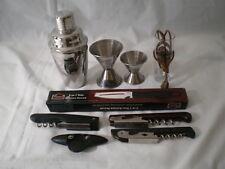 Bar Supplies / Wine Key / Shaker / Jigger / Shot Glass / 3 in 1 Peeler