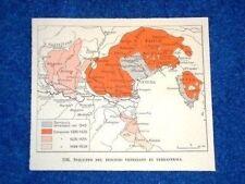 Cartina Venezia Lo sviluppo del dominio veneziano