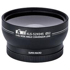 Objectif Optique Grand Angle 0.45x Macro pour Objectif Photo diamètre 52mm