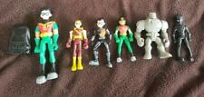 Dc Bandai Teen Titans Go lot 6 Figures 3.5� Loose Speedy Robin Slade Cinderblock
