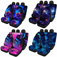Full Set Galaxy Car Seat Covers Front and Rear Auto Accessories Interior Elastic