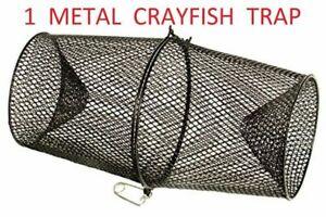 1 x METAL CRAYFISH TRAPS LIVE BAIT EEL SHRIMP PRAWN FISH CRAB DROP CAGE NET POT