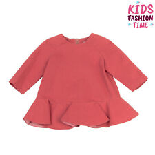 Rrp €220 Mimisol Flounce Dress Size 6M Raglan Sleeve Crew Neck Made in Italy