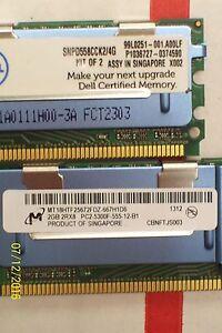 *LOT OF 4* DELL MEMORY 2GB 2RX8 PC2-5300F-555-12-B1 , SNPD558CCK2/4G