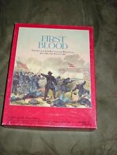 Simulations Designs - FIRST BLOOD game -1st & 2nd Manassas Bull Run  (UNPUNCHED)