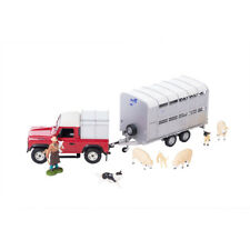 43138A1 Britains Sheep Farmer Set inc Land Rover & Trailer 1:32 Scale Kids 3+