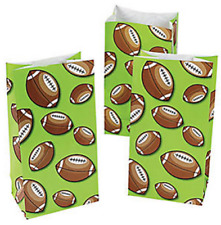 Pack of 12 - American Football Ball Paper Gift Bags - NFL Party Bag