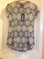 Ladies Short Sleeve Lace Top Size 10