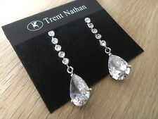 Gorgeous Trent Nathan Nickel Free Cubic Zirconia Earrings , Wedding Jewelry New