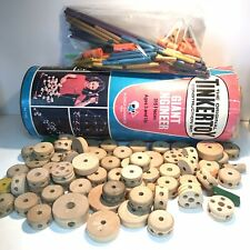 Tinkertoy Vintage Giant Engineer Toy Set #5155 by Questor Incomplete