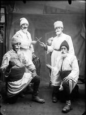 Old Photo. Romania. 4 Men in Costumes with Knives