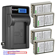 Kastar Battery LCD Wall Charger for Olympus BLS-5 & Olympus E-PM1 EPM1 Camera