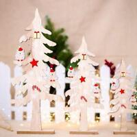 Nordic Style Wooden Study Desktop Tree Ornaments Block Christmas Party Decor