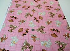 Fabric Traditions quilt-craft fabric TEDDY BEAR TOSS pink 2 yds (16433) cute!