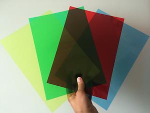 Clear & Coloured A4/A5 Acetate Sheets -Thin Flexible Plastic OHP PVC Gel Film