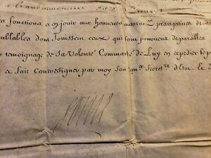 KING LOUIS XIV AUTOGRAPH ON MILITARY ORDER 2 DOCUMENTS 1713 König von Frankreich