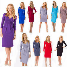 Summer Womens Sexy V-Neck Stretchy Maternity Tunic Party Cocktail Dress Size 16