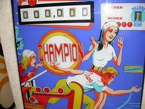 Flipper Elettromeccanico Champion Nordamatic anni '70 Usato